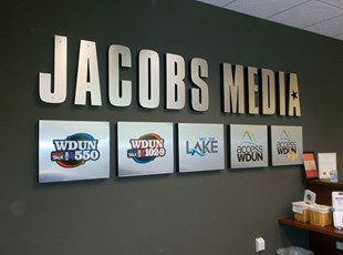 3D Lobby Sign for Media Company