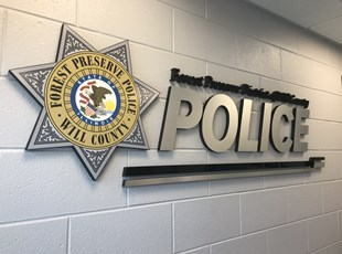 Brushed Aluminum 3D Lobby Sign For Police Station