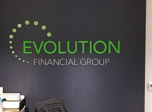 3D Sign for Financial Group Indoor Lobby