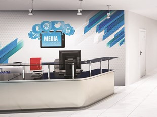 Reception Area Wall Graphics