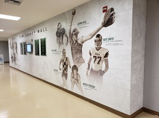 Wall Graphics for College Gymnasium