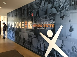 Wall Graphic for Fitness Center