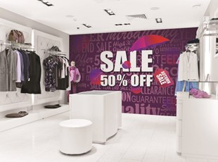 Wall Graphic for Sale Promotion