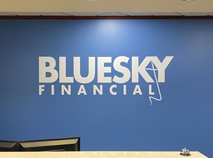 Wall Graphics for Blue Sky Financial