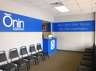 Wall Graphics for Staffing Agency Reception Area
