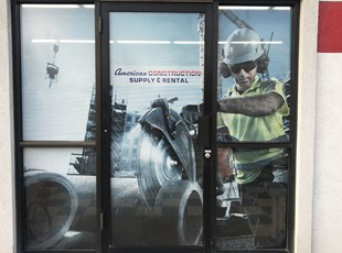 Construction Window Graphics Supply and Rental