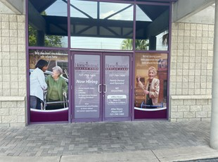 Perforated Window Graphics for Senior Care Home