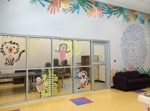 Creative Window Graphics for Daycare Center