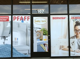 Window Graphics for Sewing Company