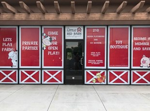 Window Graphics for Red Barn Play Farm