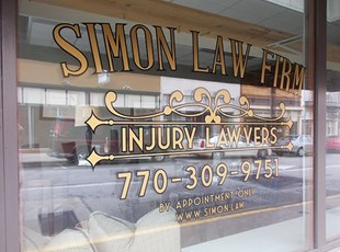 Window Graphics for Injury Law Firm