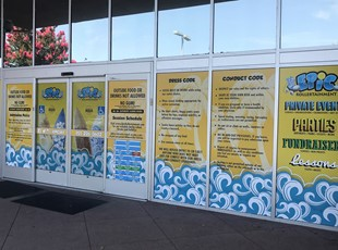 Window Graphics for Roller Skating School