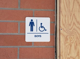 ADA Sign for Boys Restroom