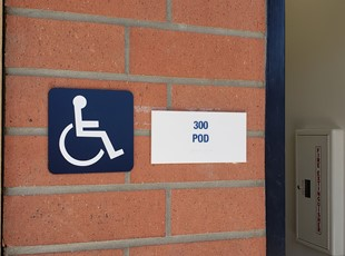 ADA Wheelchair Sign POD