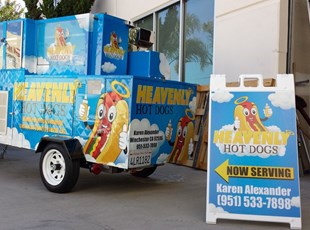 Hot Dogs A Frame and Trailer Graphics