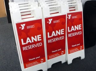 Lane Reserved A-Frame for YMCA