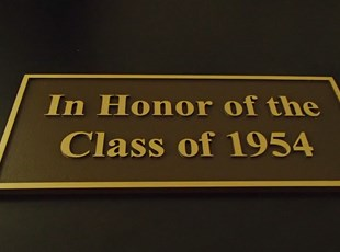 Plaque for Class of 1954
