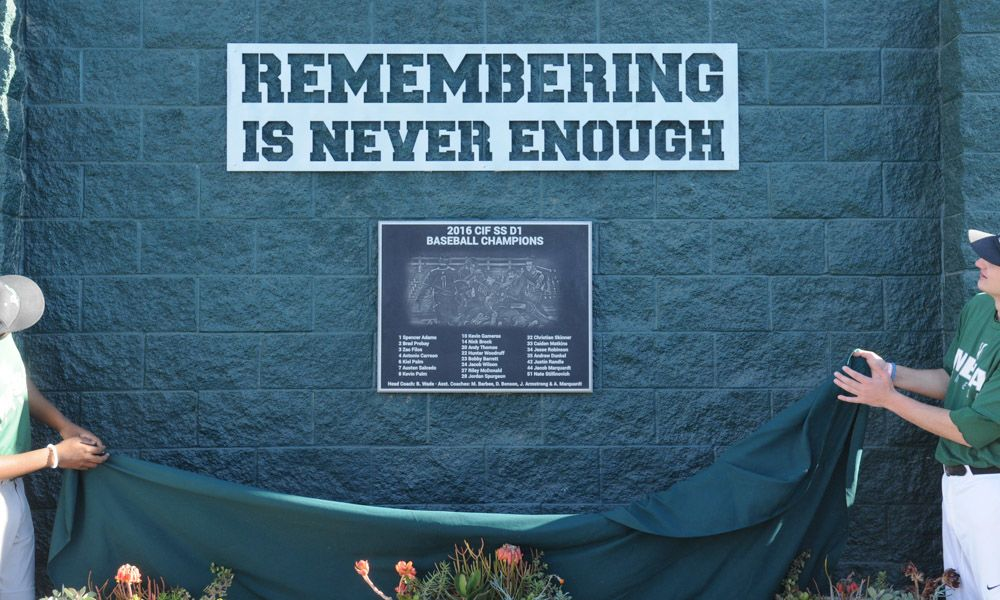 Remember is Never Enough Plaque Memorial Sign for School