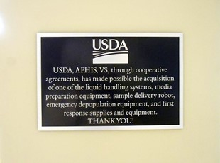 USDA Plaque with Information about Equipment