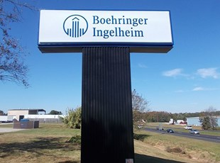 Boehringer Pylon Sign