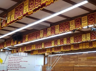 Indoor Banners for College Campus Gymnasium