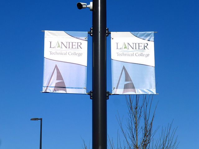 Outdoor Pole Banner for Technical College