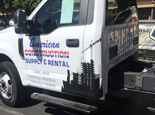 American Construction Supply and Rental Vehicle Graphics and Lettering