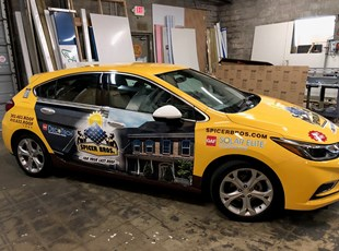 Car Graphics for Solar Contractor