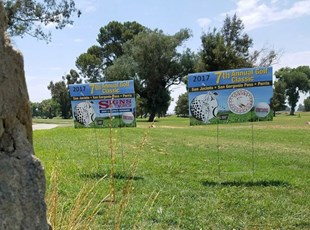 Coroplast yard Signs for Golf Sponsorship