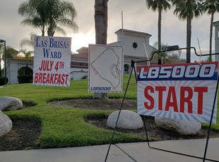 Custom Yard Coroplast Signs for July 4th Breakfast