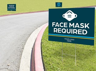 Yard Sign for Face Mask Required