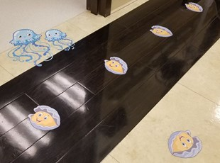 Floor Graphics for Children's Hospital with Jellyfish