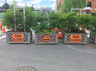 Construction Site Temporary Road Signs
