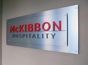Hospitality Interior Standoff Sign