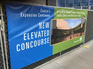 Construction Vinyl Banner for Elevated Concourse