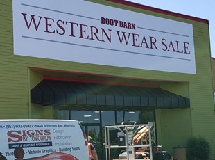 Promotional Vinyl Banner for Western Wear Sale