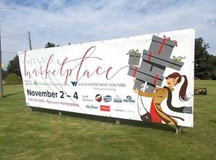 Outdoor Vinyl Banner for Marketplace Promotion