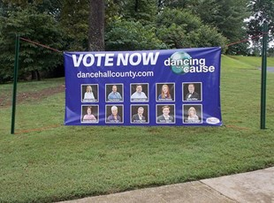 Outdoor Vinyl Banner for Vote Now