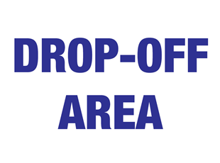 COVID Drop-Off Area Sign