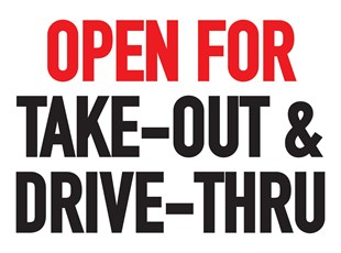 Sign For Drive Thru Open