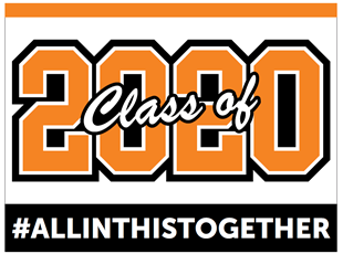 Graduation Sign Class of 2020 Orange