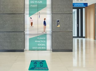 Social Distancing Floor and Elevator Graphics