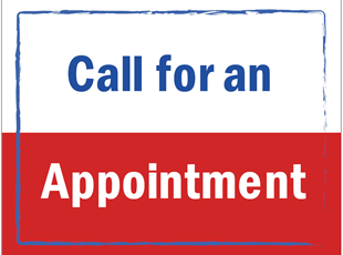 Call for an Appointment Sign