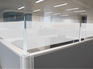 Sneeze Guards for Cubicle Protection