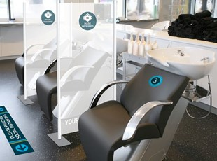 Protection Screen for Salon Separating Chairs