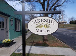 Routed Sandblasted Sign for Lakeside Market