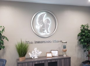 Reception Sign For Insurance Company
