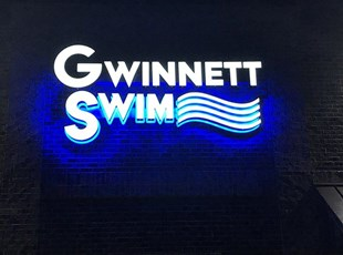 Outdoor Dimensional Lettering for Swim Club