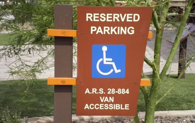 Disability-Accessible Reserved Parking Sign