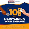 INFOGRAPHIC: 10 Tips For Maintaining Your Signage